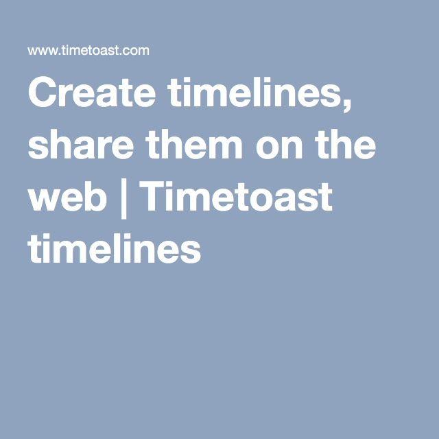 create timelines share them on the web timetoast timelines
