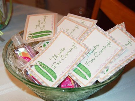 Peas In A Pod  Sweet Pea Hand Sanitizing Gel As A Take Home Favor For. Baby  Shower ...