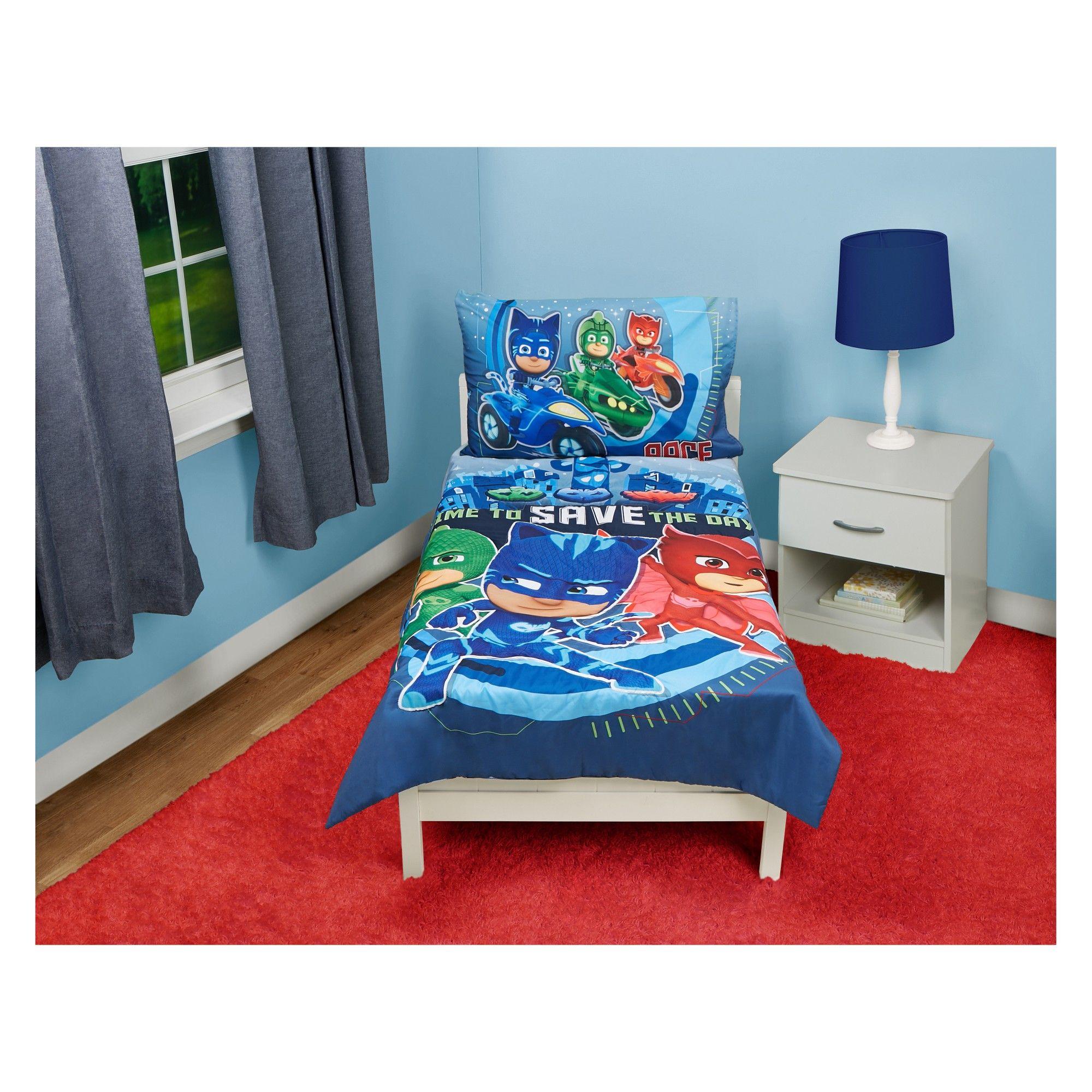 PJ Masks Toddler Bedding Set Blue (With images) Toddler