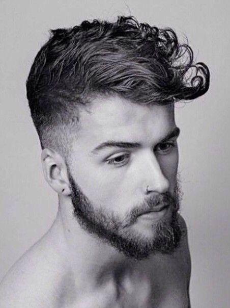 Mens Curly Hair Shaped Into A Modern Pompadour Curly Hair Men Curly Hair Styles Mens Hairstyles Pompadour