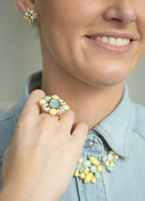 Bijou Brigitte fashion jewellery in yellow