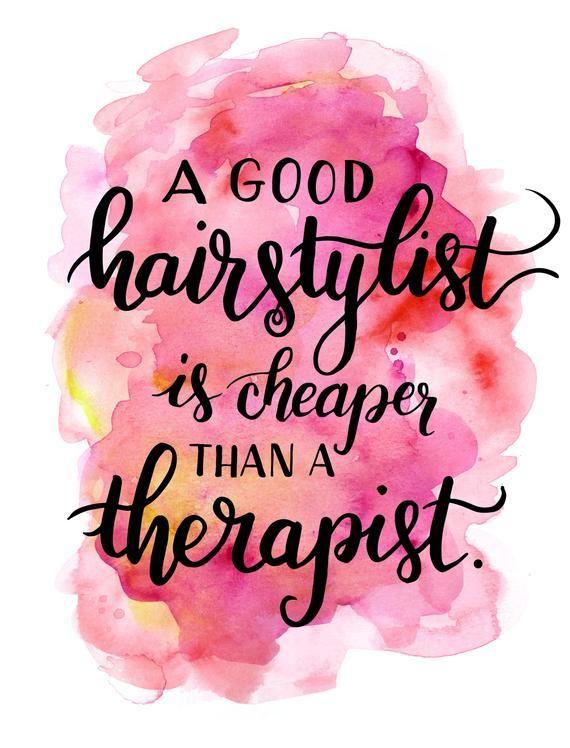 Photo of Friseursalon Dekor – Ein guter Friseur ist billiger als ein Therapeut – druckbare Beauty Print Friseur Friseur Friseur Poster
