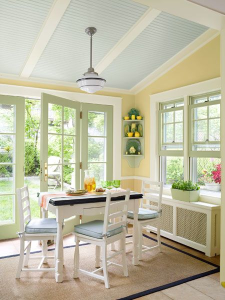 A Home With Well Balanced Colors | Sunroom decorating ...