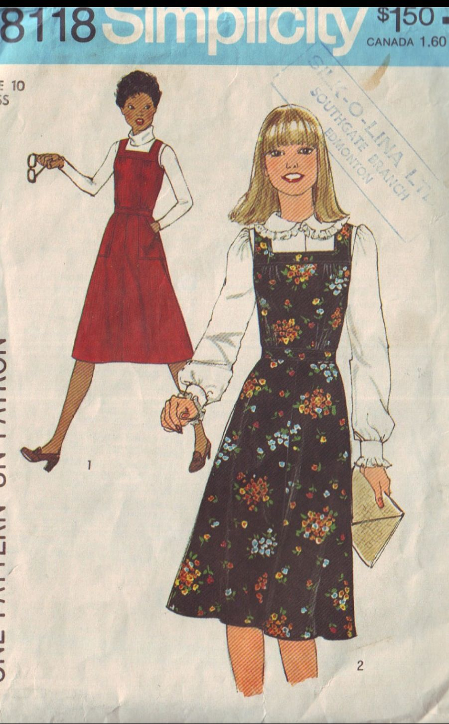 I Remember Going To Scranton Fabrics On The South Side Of Binghamton To Buy Simplicity Patt Simplicity Patterns Dresses Dress Sewing Patterns Square Neck Dress