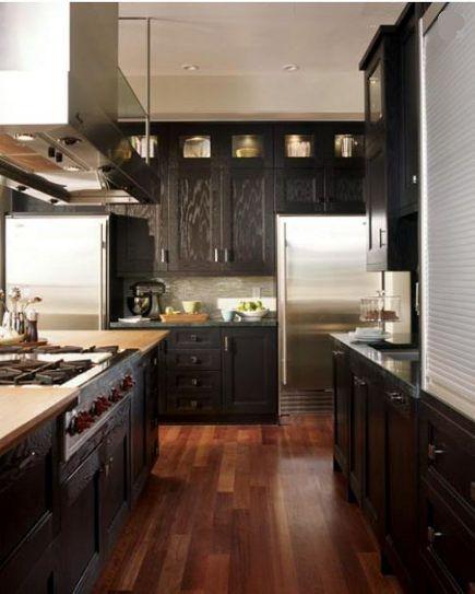 Craftsman Kitchen Oak Cabinets: Ebonized Oak Cabinets In Neo-Craftsman Kitchen