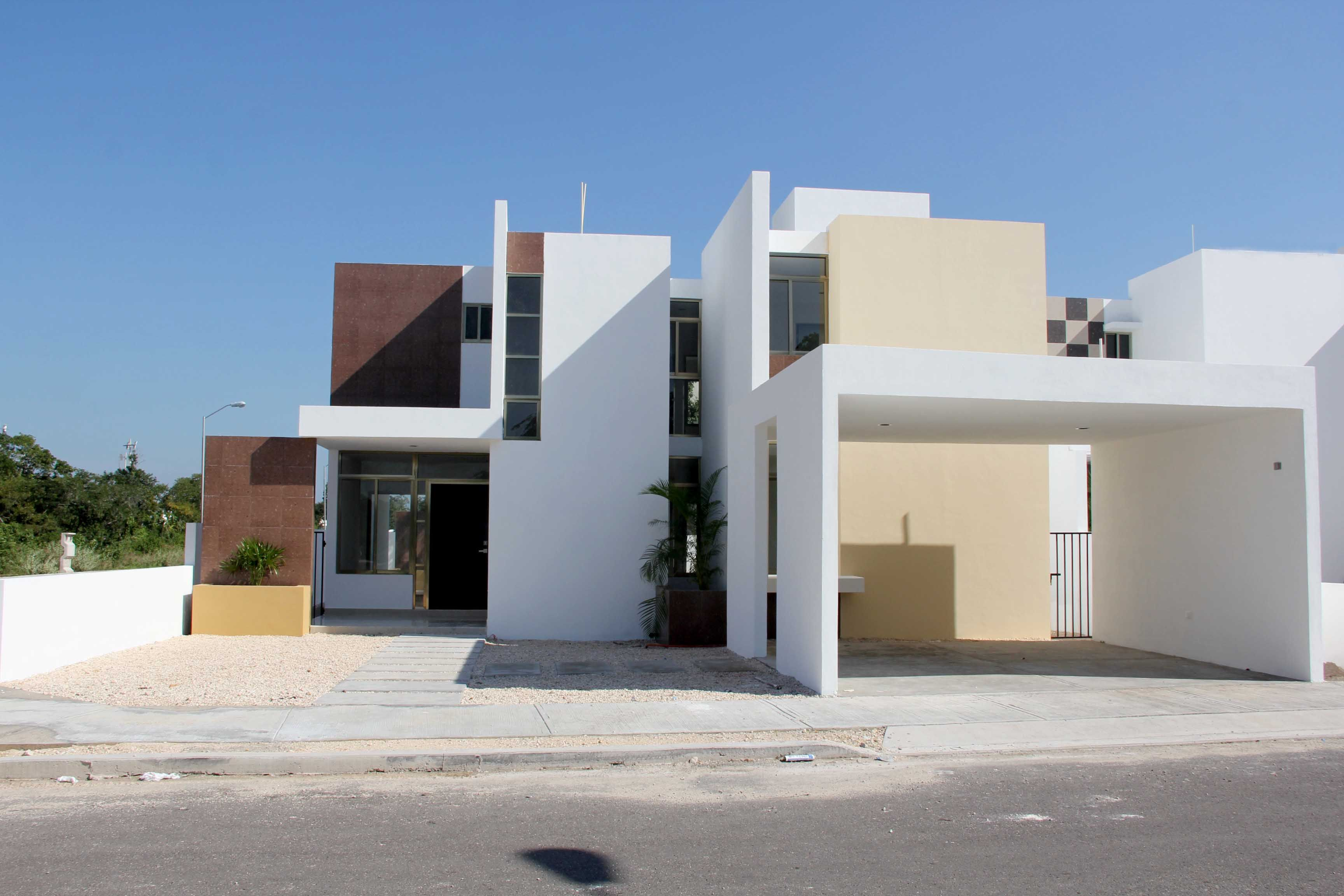casa minimalista con amplio garaje fachadas de casas