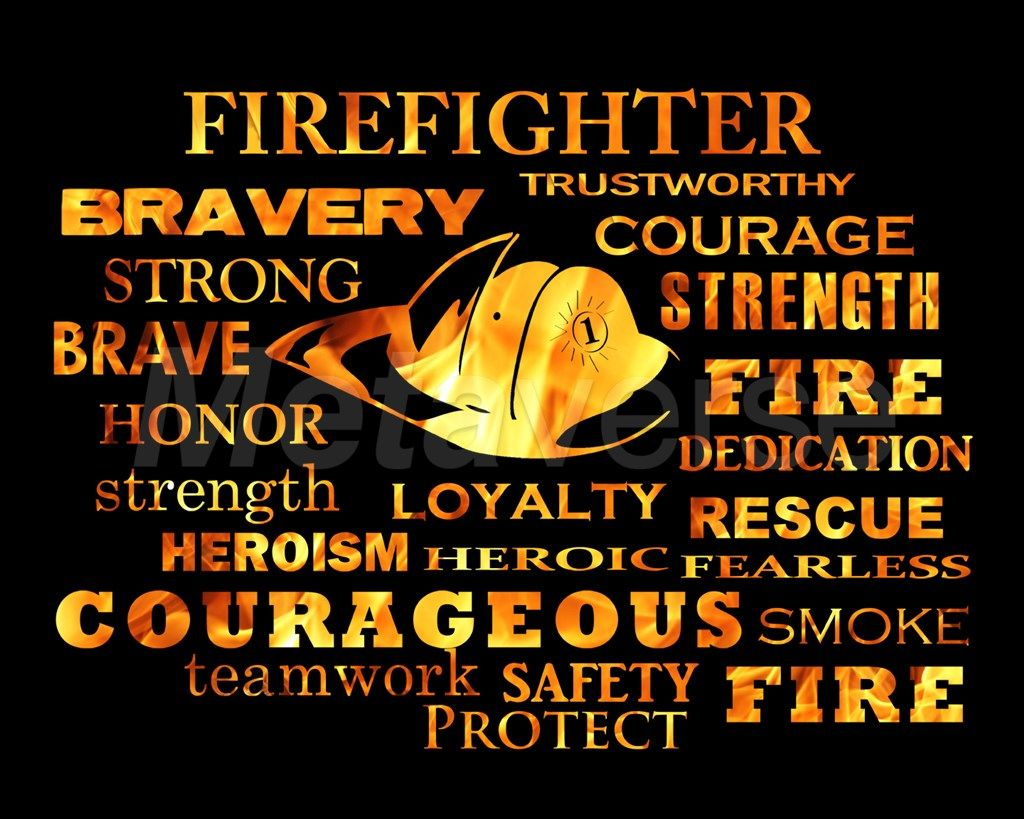 firefighter paintings firefighter words art print fire pic