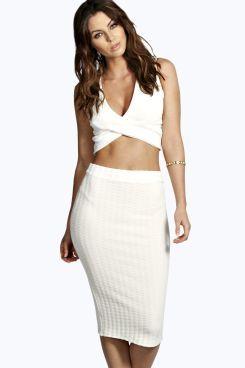 2bd5192093e Janiya Ribbed Textured Midi Skirt. Grab unbeatable discounts up to ...