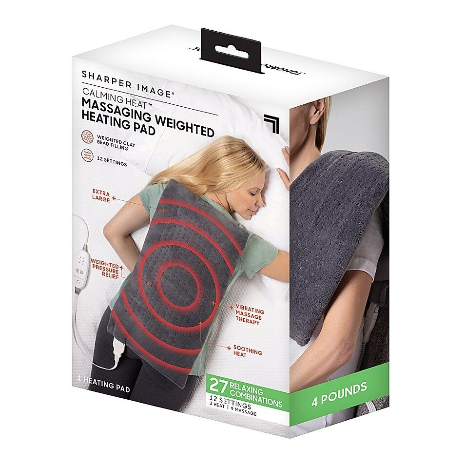 Calming Heat 12 Setting Weighted Heating Pad Bed Bath Beyond In 2021 Heating Pad Pad Heat