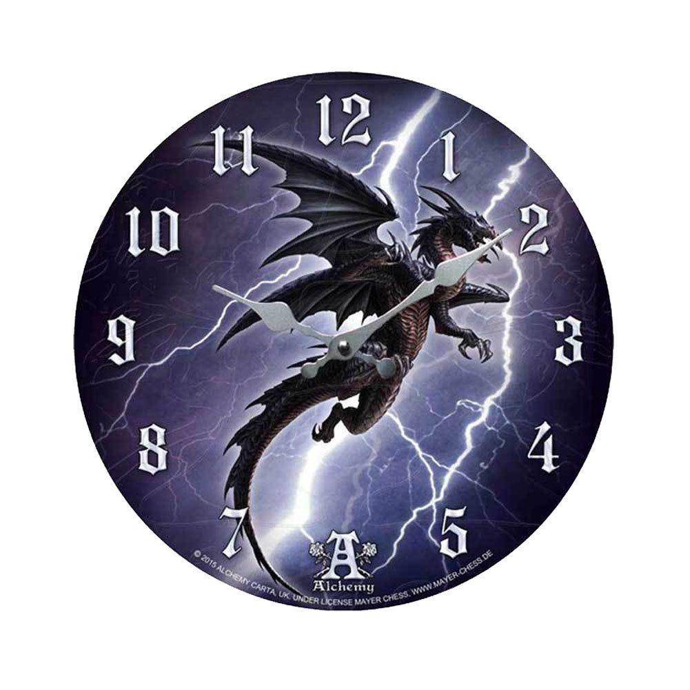 Purple Leopard Boutique Alchemy Gothic Lightening Dragon Clock Home Decor Fantasy Wall Clocks 36 00 Http Www Pur Lightning Dragon Dragon Wall Wall Clock