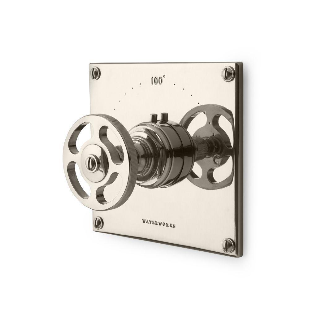 R.W. Atlas Thermostatic Control Valve Trim with Metal Wheel Handle ...