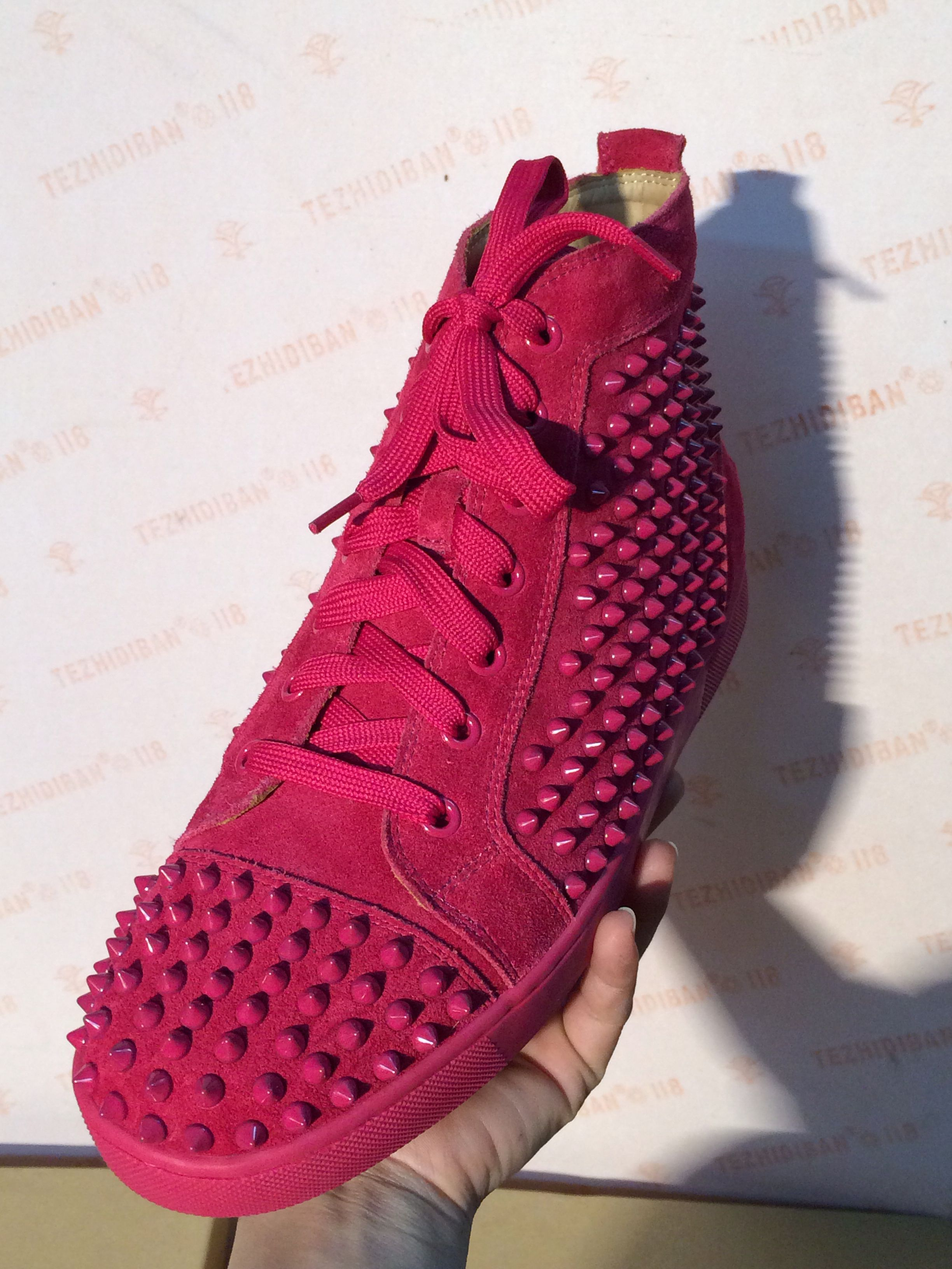 f73a17e076a Christian louboutin hot pink sneaker, both women and men size ...