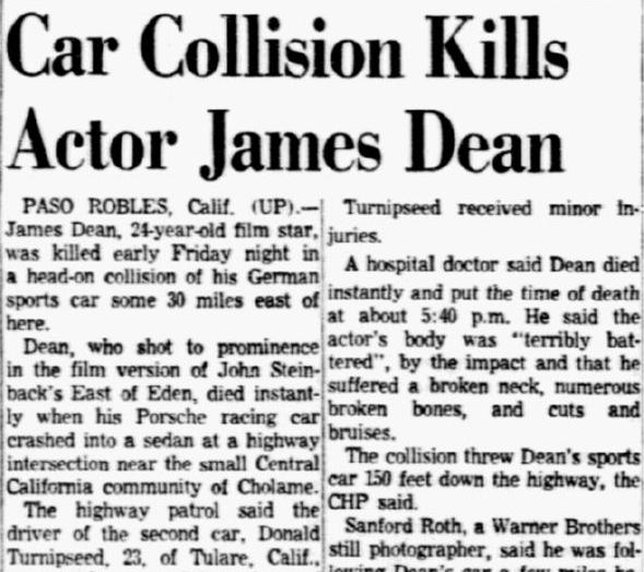 Did James Dean Die Instantly   Car Collision Kills Actor James Dean