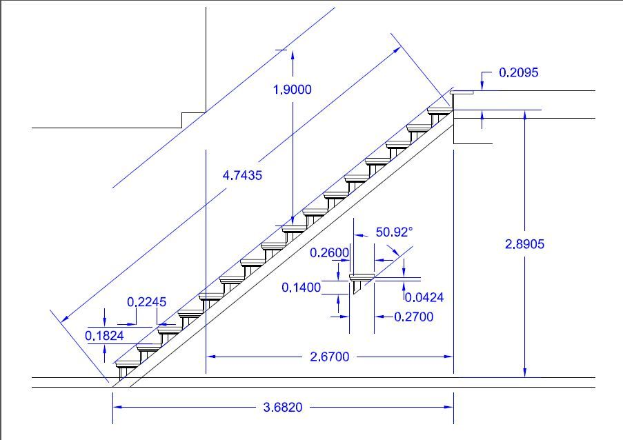 Image result for escaleras medidas architecture for Como hacer una escalera de madera recta