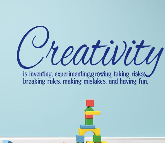 Creativity vinyl wall decal words definition quote for for Decor meaning