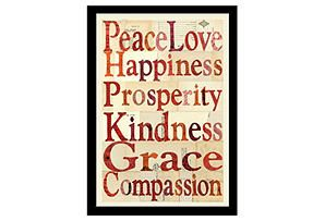 One Kings Lane - Statement Pieces - Peace Love Happiness...