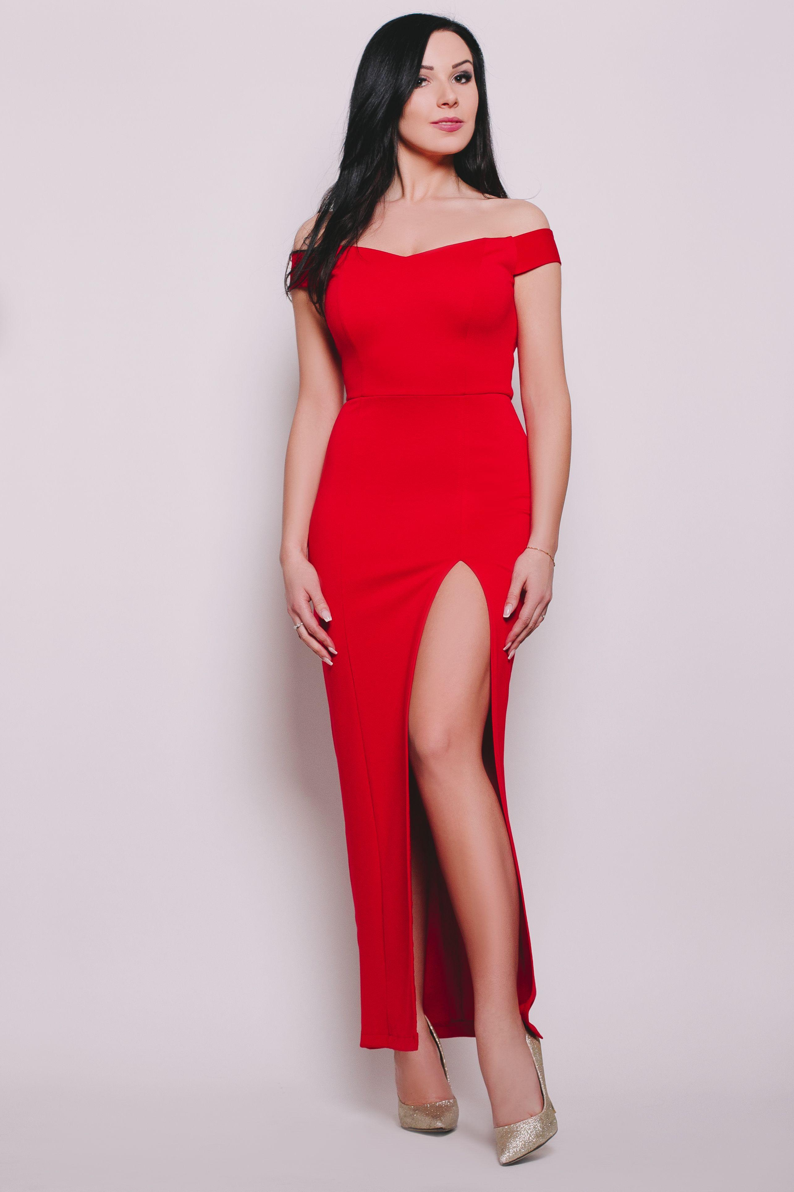Grace Dluga Elegancka Sukienka Z Seksownym Rozcieciem Wykonana Z Elastycznego Materialu Dzieki Czemu Idealnie Podkresla Fashion One Shoulder Dress Dresses