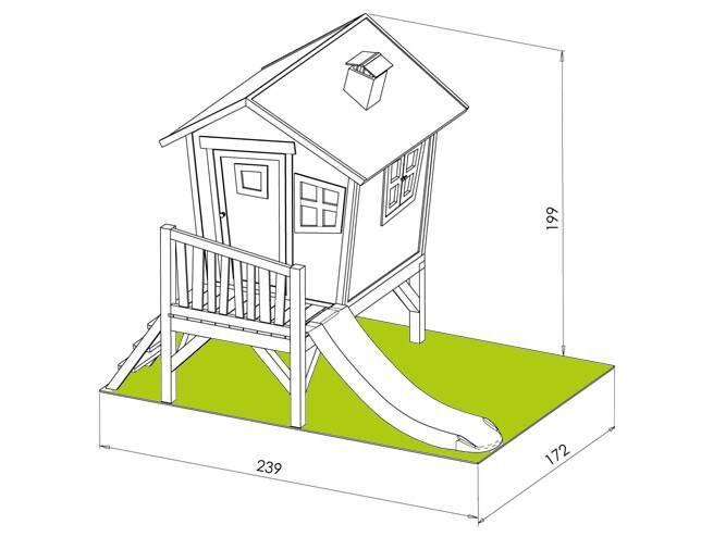 cabane pour enfant robin dimensions atelier jeux. Black Bedroom Furniture Sets. Home Design Ideas