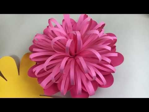 Learn How To Make A Spiky Center For A Giant Paper Flower You Can