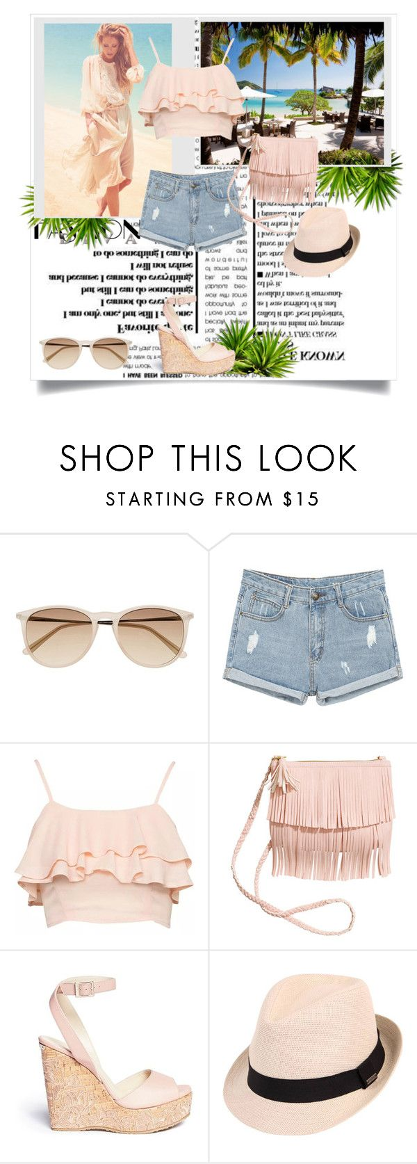 """""""Beach style"""" by ines98santos ❤ liked on Polyvore featuring Witchery and Jimmy Choo"""