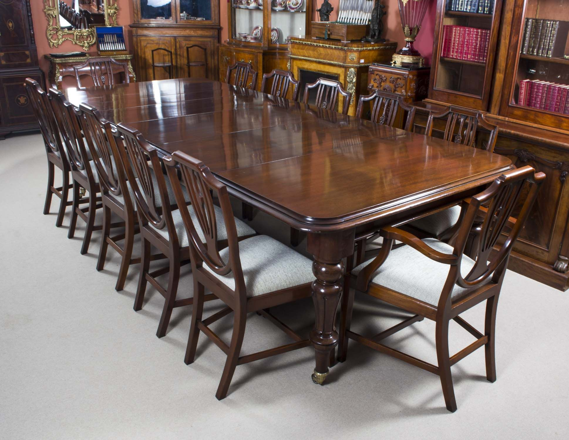 Antique Victorian Mahogany Dining Table 12 Shieldback Chairs Dining Table Mahogany Dining Table Buy Dining Table