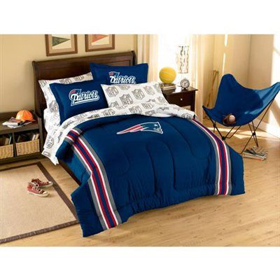 New England Patriots 7 Piece Full Size Bedding Set