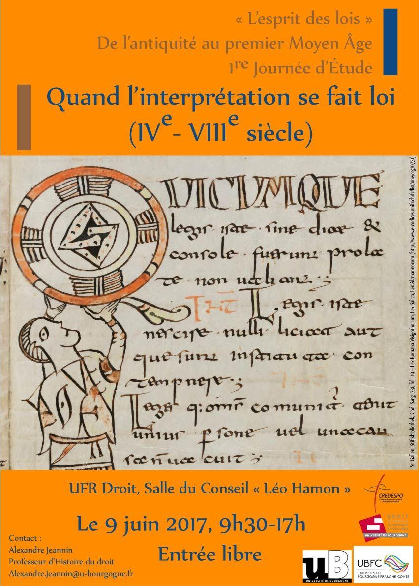 Europa Medievale: Quand l'interprétation se fait loi (IVe–VIIIe siècle)