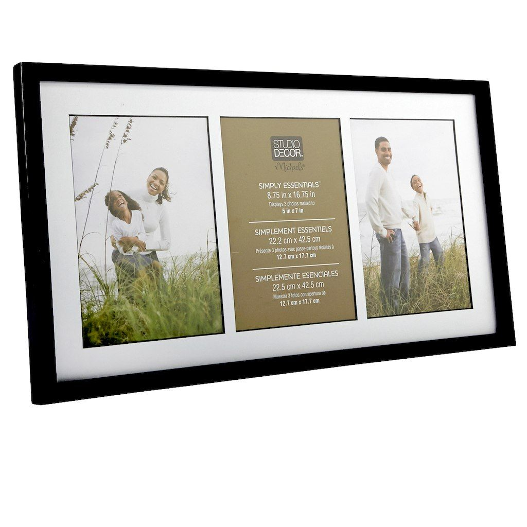 Frame together three photos of your family or friends in this pretty ...