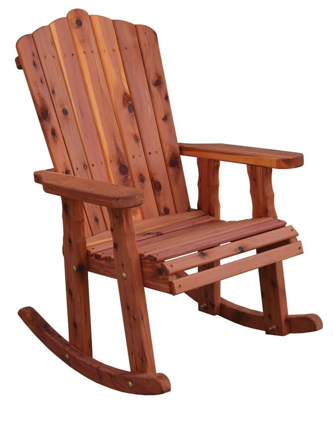 Amish Cedar Adirondack Rocker Outdoor Rocking Chairs Pallet