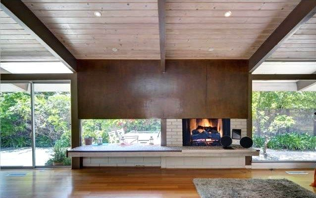 mid century modern fireplace google search fireplace pinterest home mid century modern. Black Bedroom Furniture Sets. Home Design Ideas