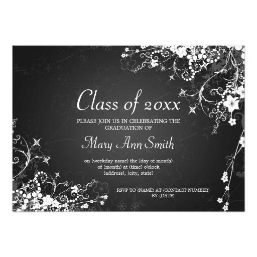 elegant graduation party dotted swirls black by rewards4life