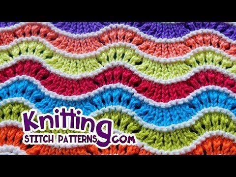 Rainbow Feather and Fan | Knitting Stitch Patterns | Knitting ...