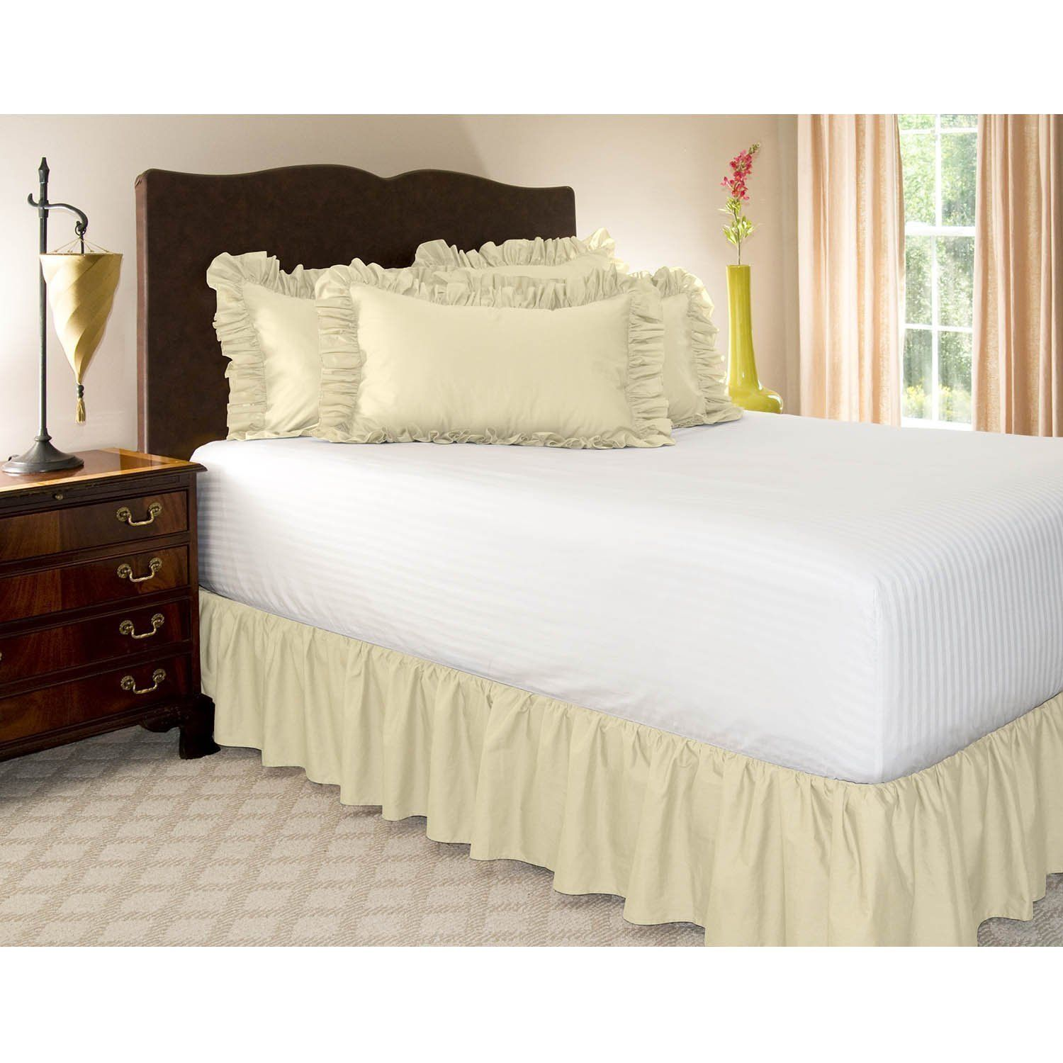 How to Make Bed skirt for Low Profile Box Spring? White