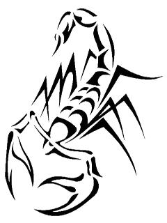 tribal scorpion tattoo 240 320 scorpio pinterest scorpio. Black Bedroom Furniture Sets. Home Design Ideas