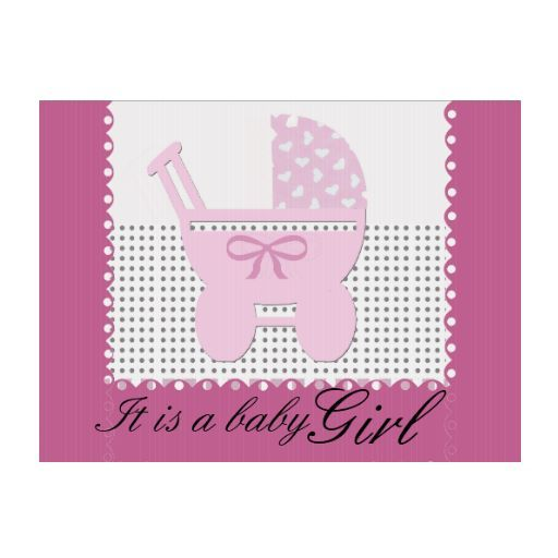 Pink Baby Girl Vintage Carriage Birth Announcement Lawn Sign – Baby Announcement Lawn Signs