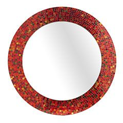 Red Mosaic Mirror From Pier 1 Ikea Used To Make One In Blue