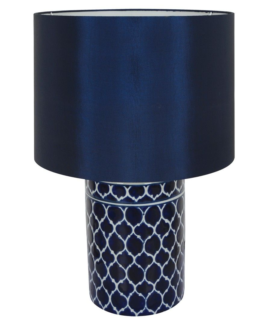 Madras 1 light round table lamp in blue main bedroom pinterest madras 1 light round table lamp in blue geotapseo Images