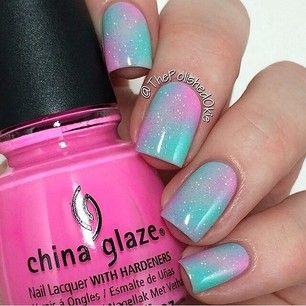 I@thepolishedokie ✨Polish: China Glaze 'Bottoms Up', 'Too Yacht to Handle' & 'Fairy Dust'