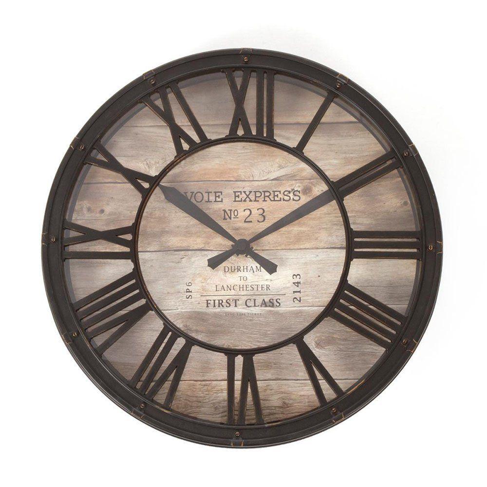 Horloge Pendule Murale Style Vintage Diametre 39 Cm Coloris Marron Cuivre Effet Vieilli Amazon Fr Cuisine Pendule Vintage Pendule Murale Pendule Horloge