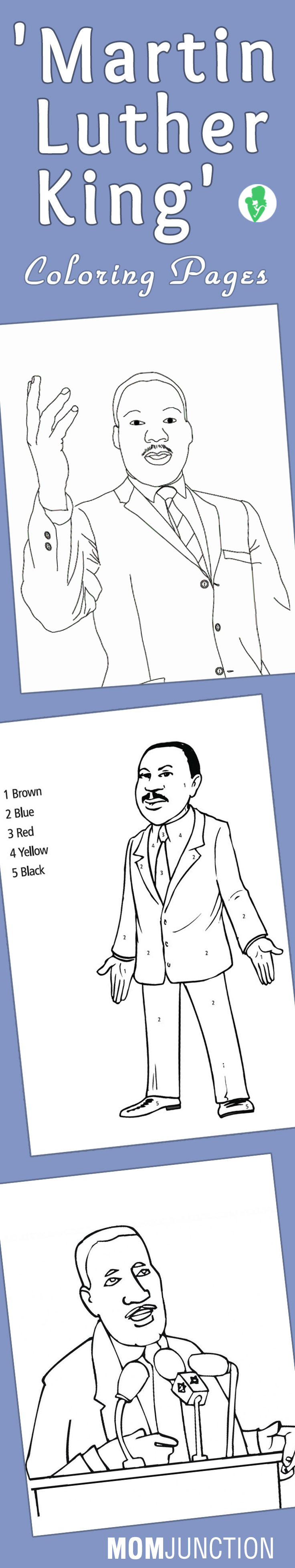 Top 10 Free Printable Martin Luther King Coloring Pages Online ...
