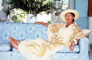Princess Margaret At Her Home In Mustique Which She Received As A Wedding Gift From Lord