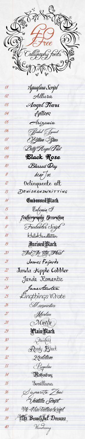 40 Tipologie Di Caratteri Di Scrittura Tatuaggi Di Script Idee