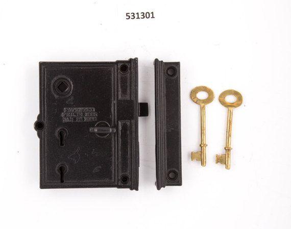 Sargent Co Antique Rim Lock By Charlestonhardwareco On Etsy Antique Hardware Antiques Skeleton Key Lock