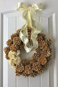 Adornos de navidad con pi as recurrir muy bonita y en - Adorno navideno con pinas ...