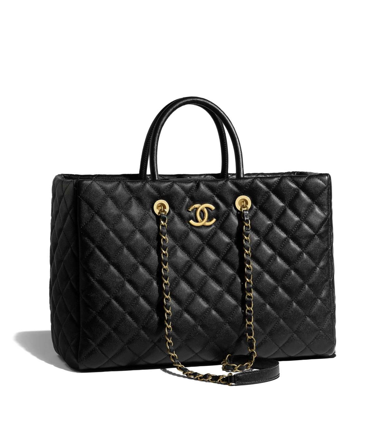 da67692eff07 Handbags of the {collectionName} CHANEL Fashion collection : Large Shopping  Bag, calfskin & gold-tone metal, black on the CHANEL official website.