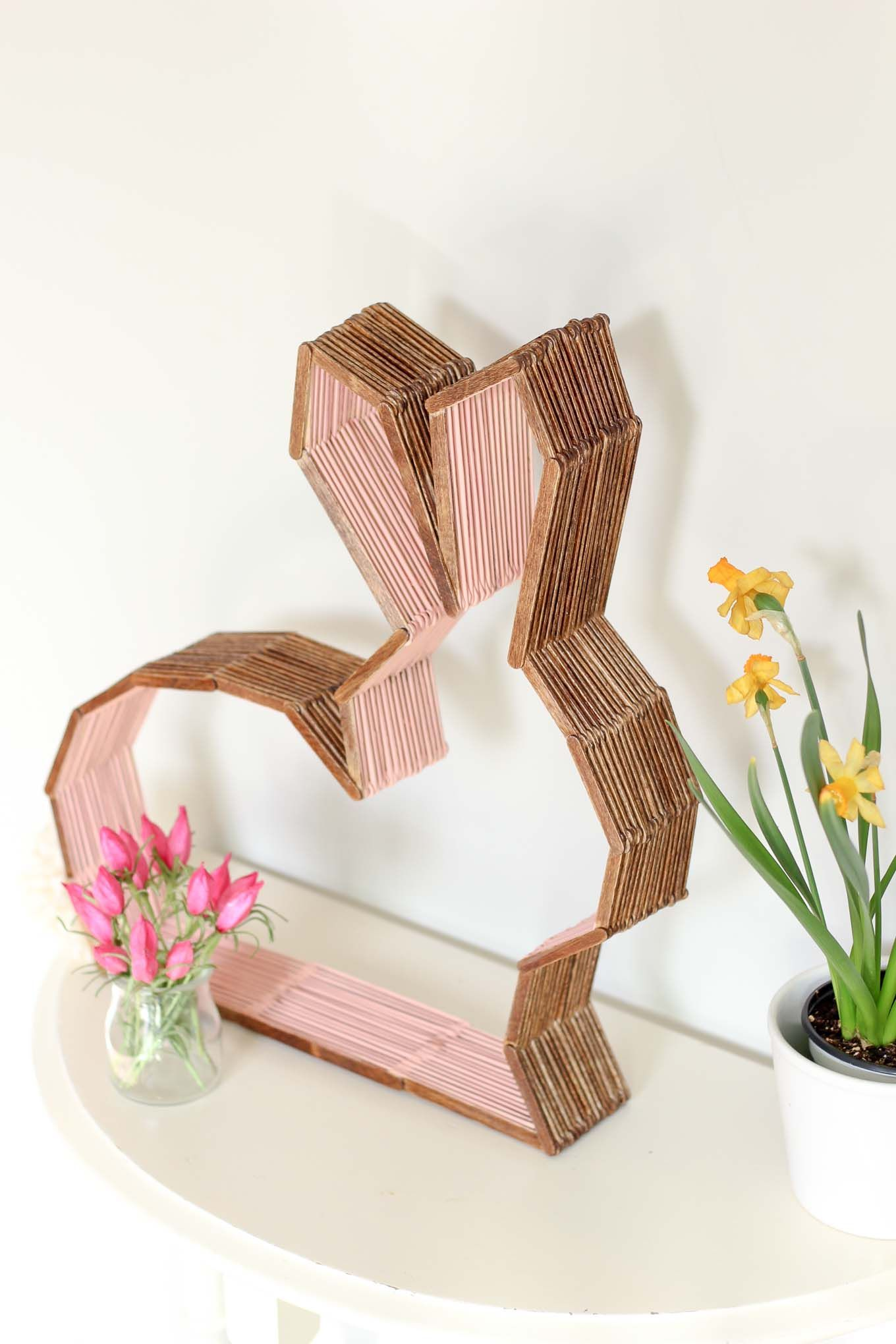 45 crafty ideas for home decor you can make yourself diy this bunny shelf makes a perfect easter craft idea for spring or diy nursery decor to enjoy year round make it out of popsicle sticks using the solutioingenieria Gallery
