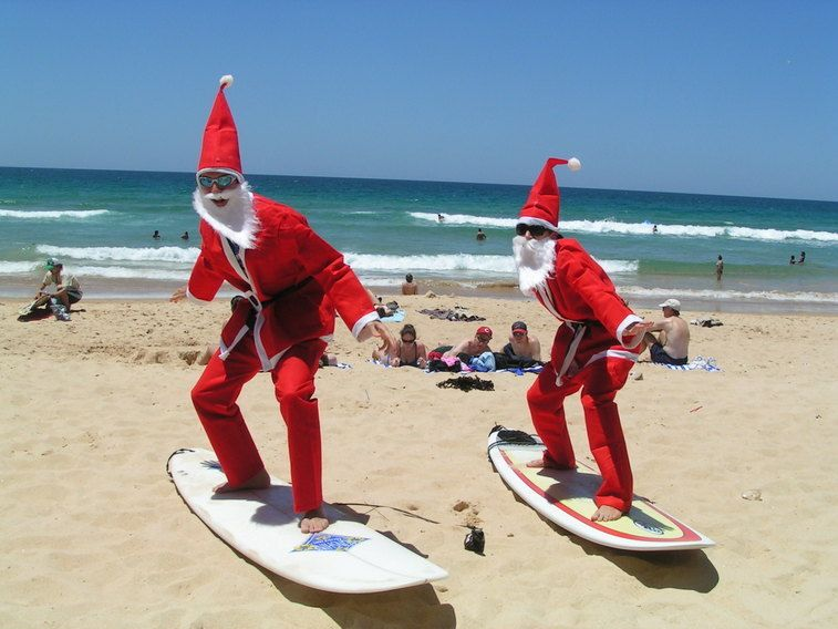 christmas in australia where many countries celebrate in snow australians enjoy christmas at the beach in 100f 30c weather - Christmas In July Australia