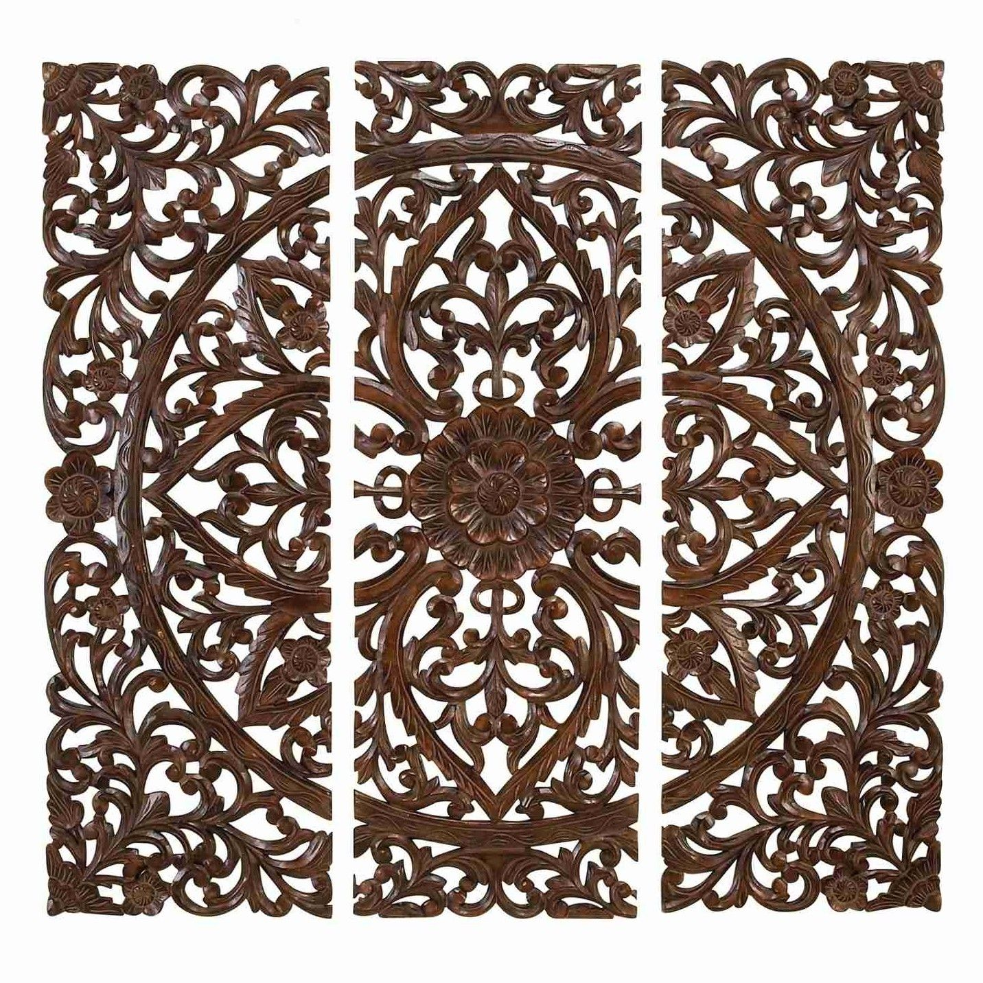 Uma enterprises piece toscana carved wall décor set u reviews