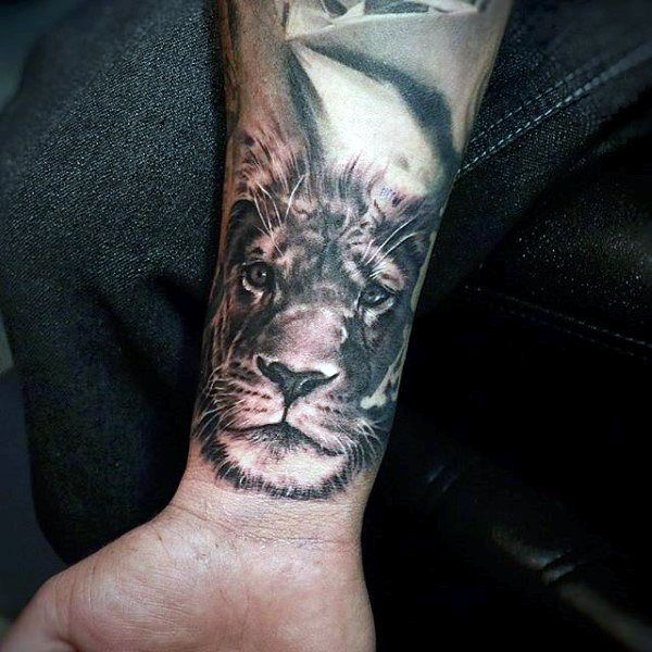 Lion Tattoo Ideas For Men 85 Lion Tattoos For Men A Jungle Of Big Cat Designs Lion Tattoo Mens Lion Tattoo Wrist Tattoos For Guys