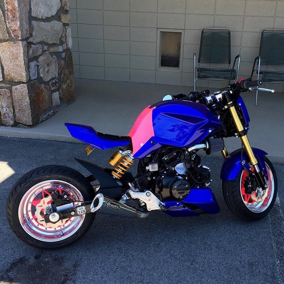 Jeremy Dash S Honda Grom Custom Street Fighter Msx125 Rucks Groms